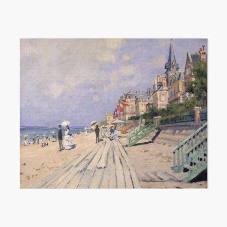 Claude Monet The Boardwalk at Trouville Art Board Print