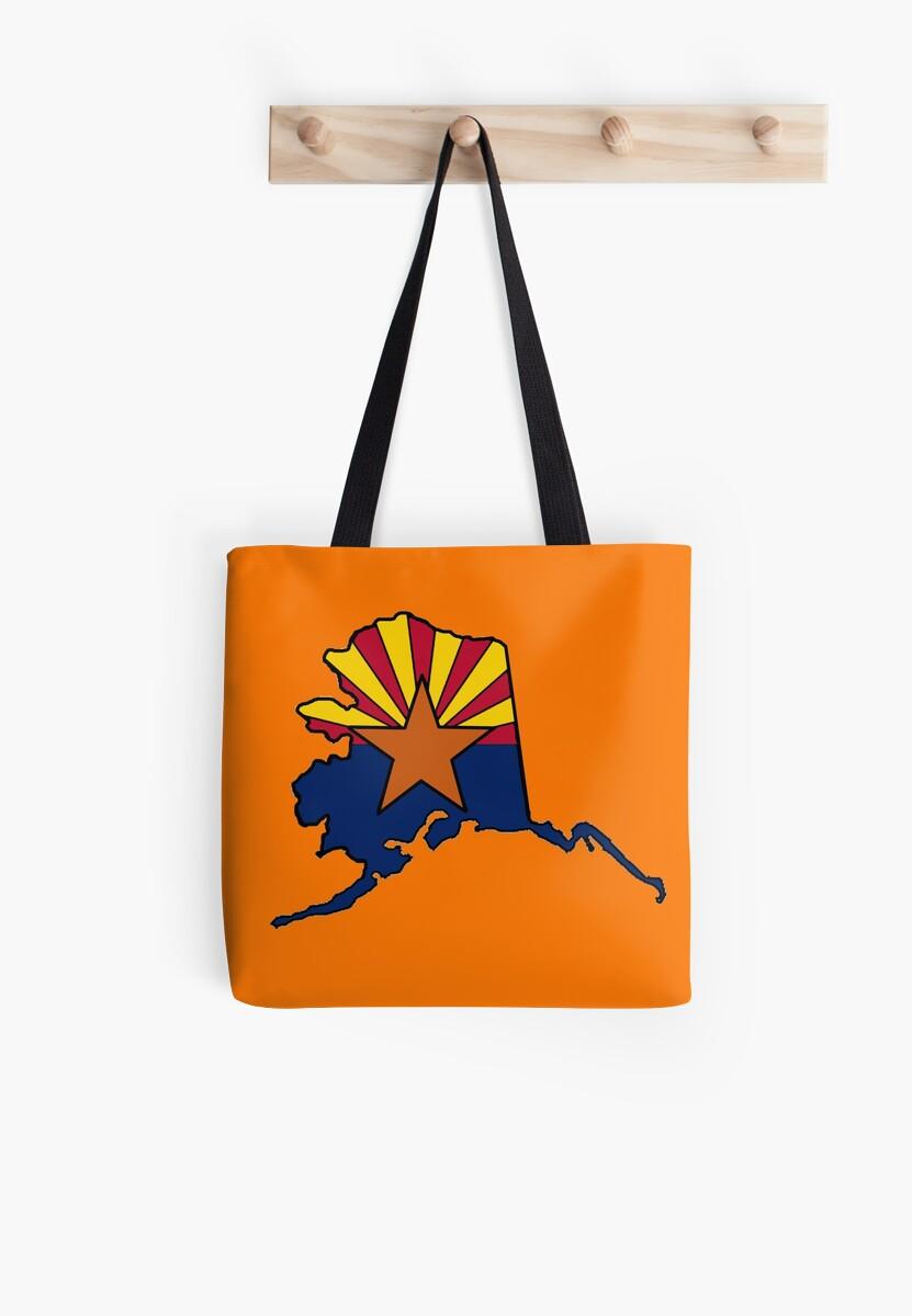 Alaska outline Arizona flag by artisticattitud