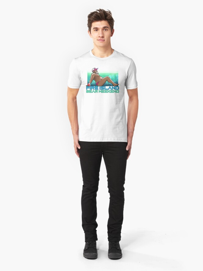 Alternate view of FIRE ISLAND BEAR WEEKEND 2020 (Chilling) Slim Fit T-Shirt