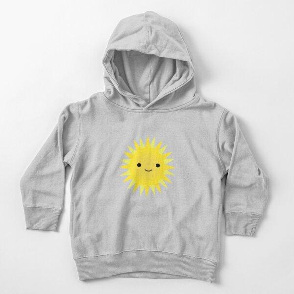 Cute Kawaii Bright Yellow Happy Sun Toddler Pullover Hoodie