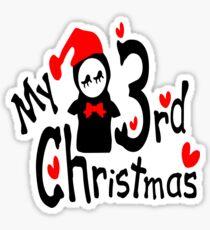 My 3rd Christmas txt penguin vector art Sticker