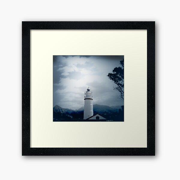 El Faro Lighthouse Mallorca Framed Art Print