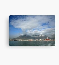 Capetown Harbour and Table Mountain Canvas Print