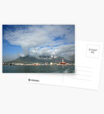Capetown Harbour and Table Mountain Postcards