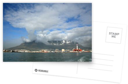 Capetown Harbour and Table Mountain by Rob Chiarolli