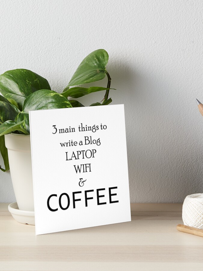 Coffee Quotes Everywhere Art Board Print By Cancer82 Redbubble