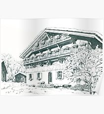 Chalet, French Alps Poster