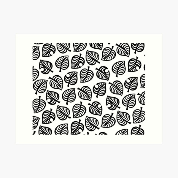 Animal Crossing New Horizons Leaf Pattern Art Print By Deppz