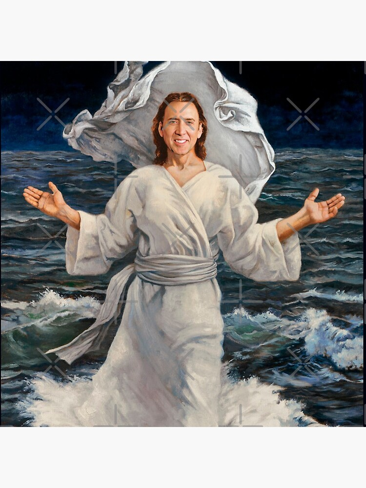 Nicolas Cage walking on water by TroyBolton17