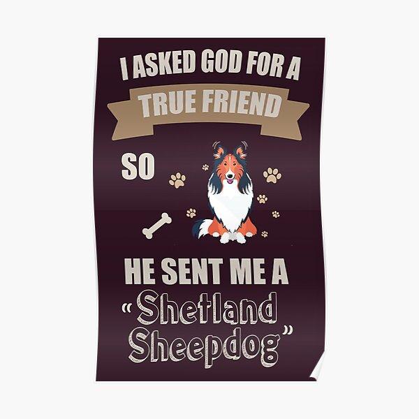 I Love My Shetland Sheepdog Gifts Poster