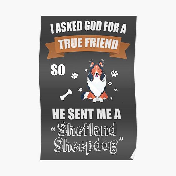 Shetland Sheepdog Puppy Dog Owner Gifts Poster