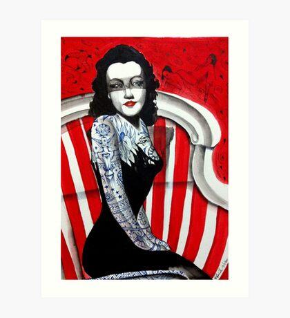 The Black Dahlia Art Print