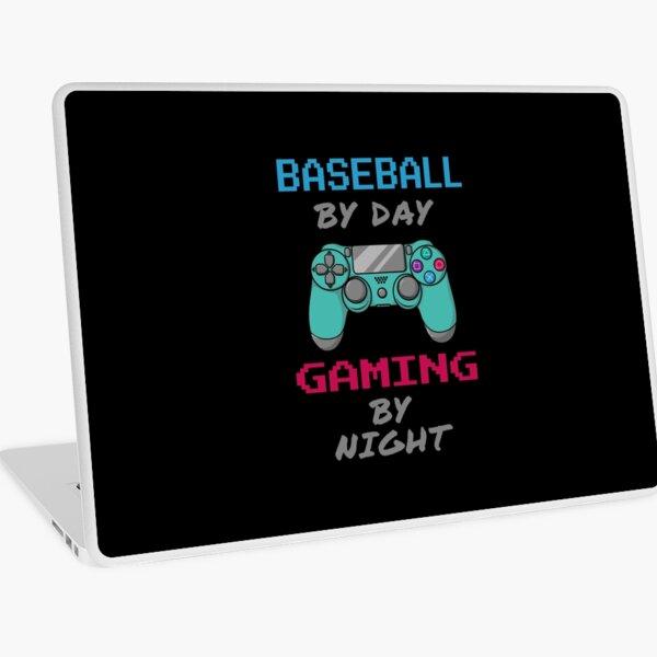 Baseball By Day Gaming By Night Laptop Skin