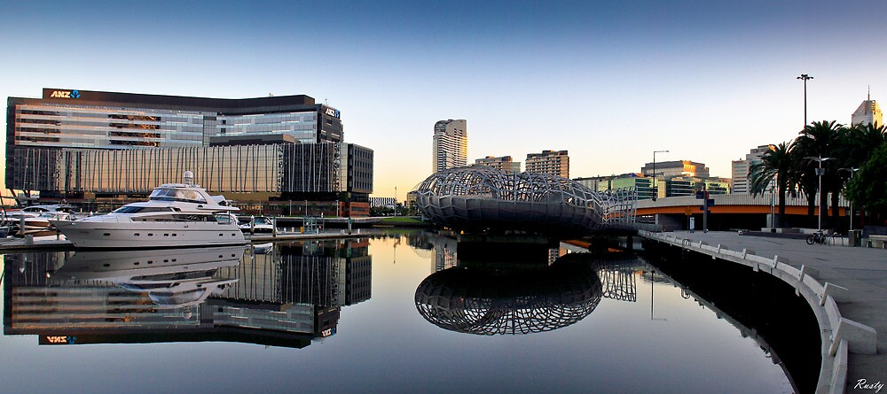 Docklands Reflections by Russell Charters