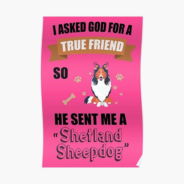 Shetland Sheepdog Mom & Dad Gifts Poster
