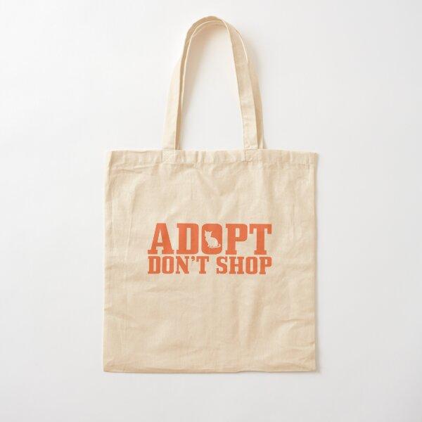 Adopt Don't Shop (orange) - CHARITY DONATION  Cotton Tote Bag