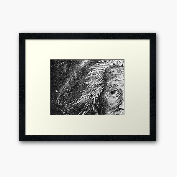 man in stars Framed Art Print