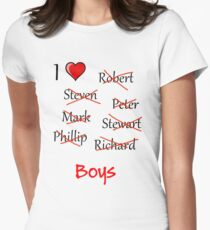 'I ♥ Boys' Women's Fitted T-Shirt