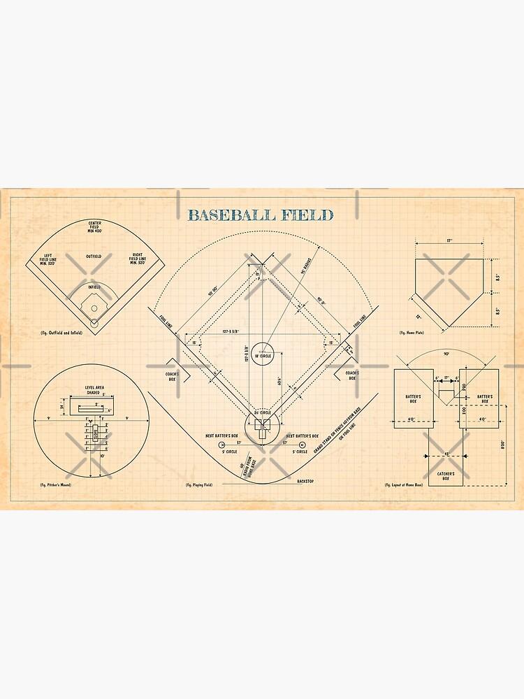 Baseball Field (Old blue grid) - English by BGALAXY
