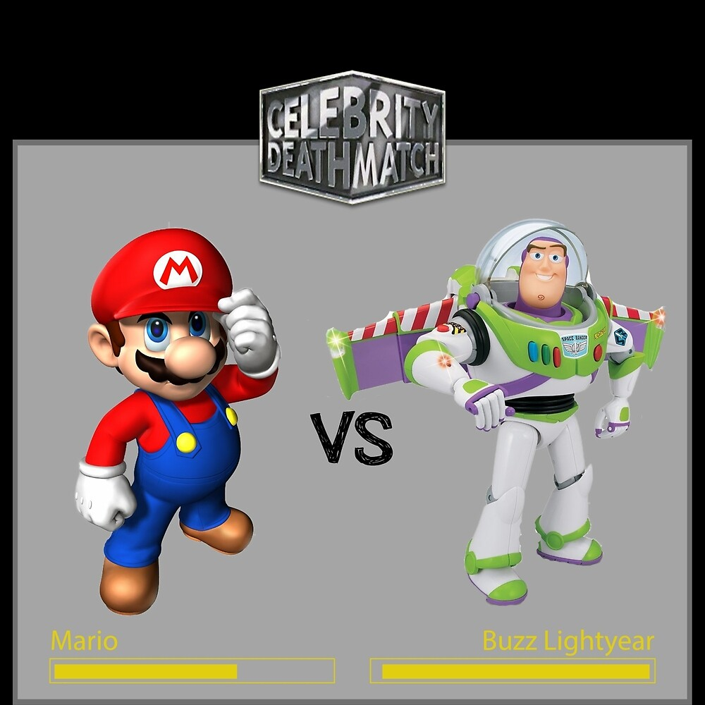Mario Bros vs Buzz Lightyear by NeRdOmAnIa