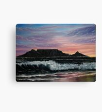 Sunset over Cape Town - Oil Painting Canvas Print