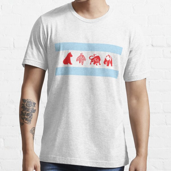 Chicago Flag with Teams Essential T-Shirt