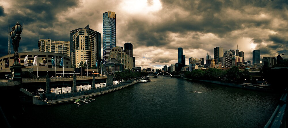 YARRA RIVER PANORAMA MELBOURNE by Russell Charters