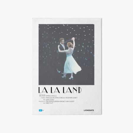 La La Land Movie Poster Art Board Print