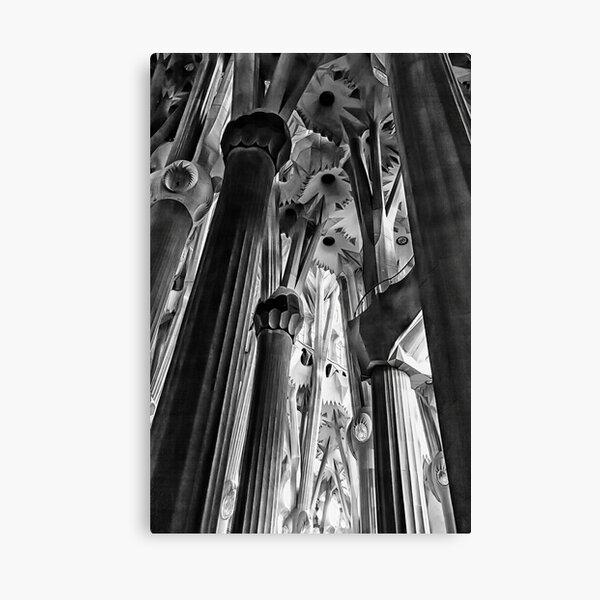 Columns, La Sagrada Familia Canvas Print