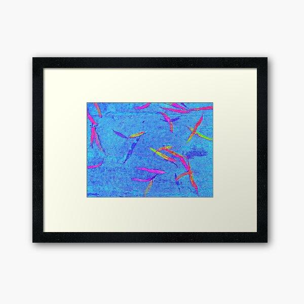 Colored Leaves Framed Art Print