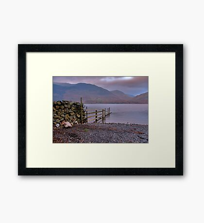 The Fence - Buttermere Framed Print
