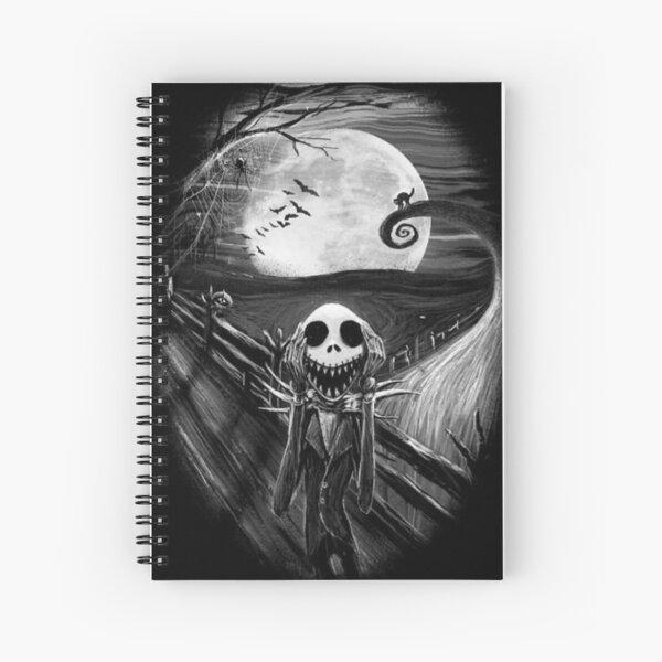 Jack skellington scream art Spiral Notebook