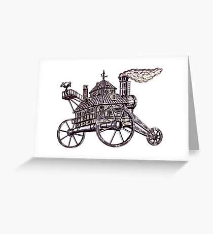Art Moves the World surreal black and white pen ink drawing Greeting Card