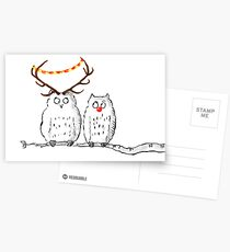 Christmas Owls Postcards