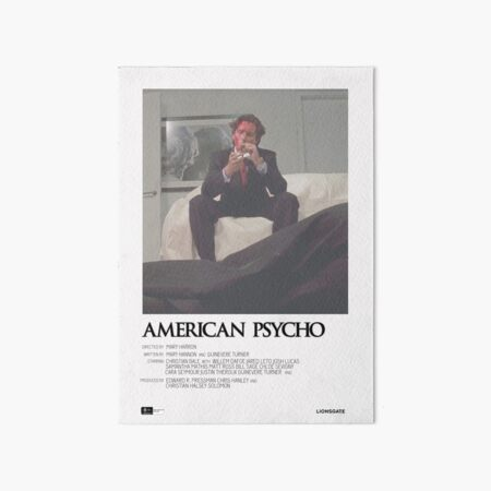 American Psycho Movie Poster Art Board Print