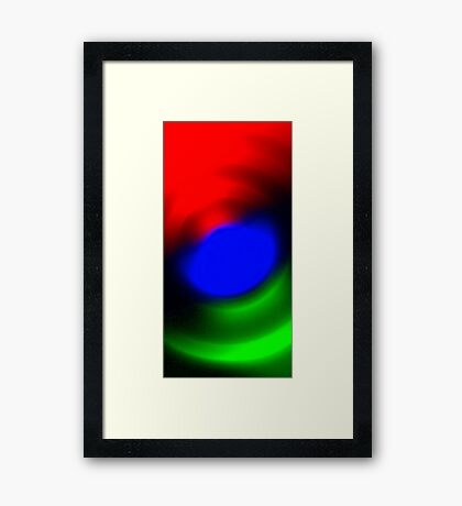 Three Colours // Red, Green, Blue Framed Print