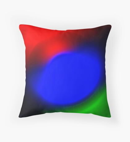 Three Colours // Red, Green, Blue Throw Pillow