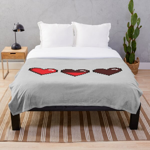 Pixelated hearts Throw Blanket