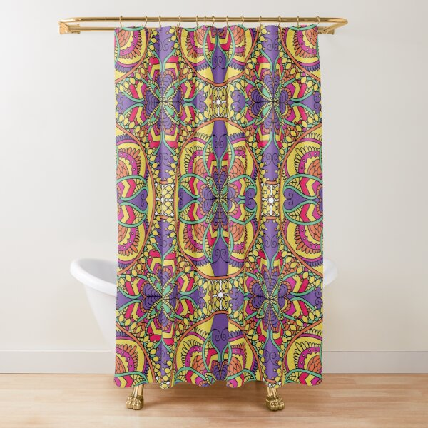 Perfect design,mandala,mix of colors Shower Curtain
