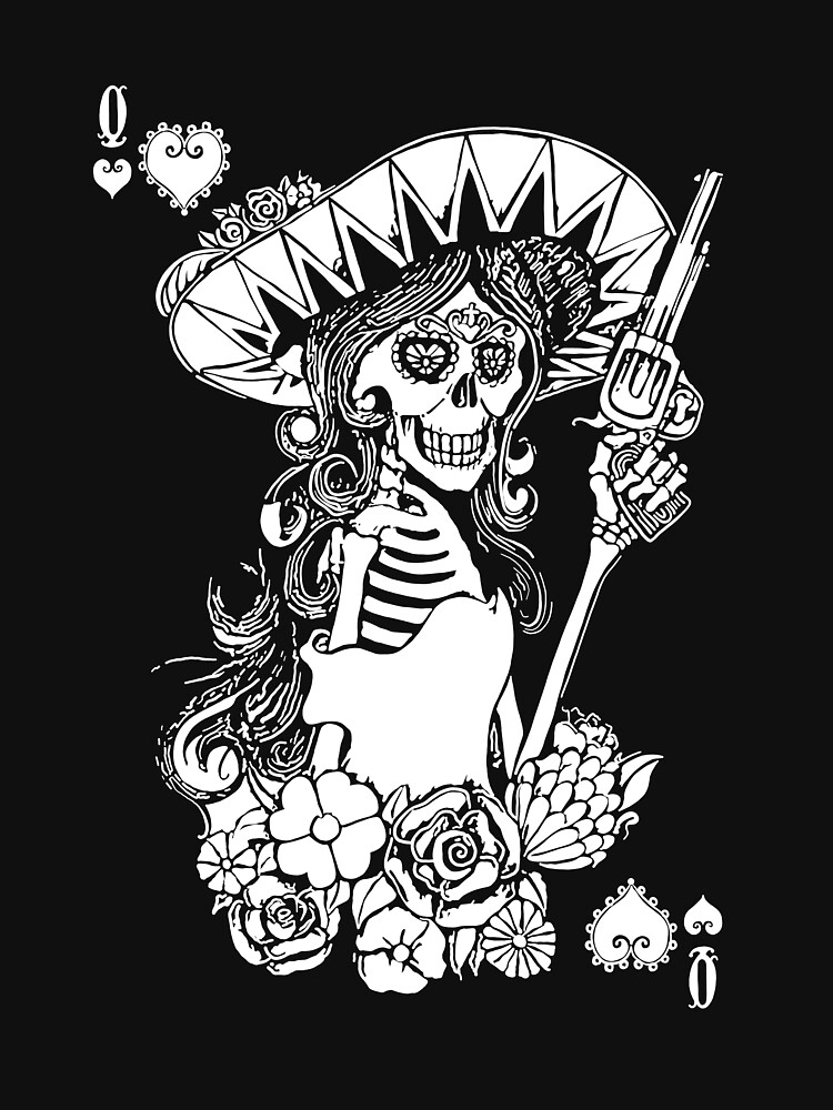 Day of the Dead Queen of Hearts by fullrangepoker