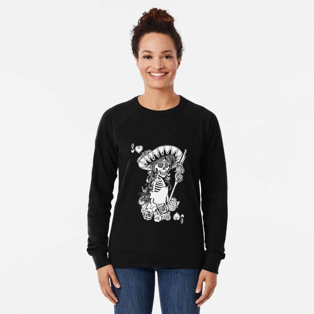 Day of the Dead Queen of Hearts Lightweight Sweatshirt