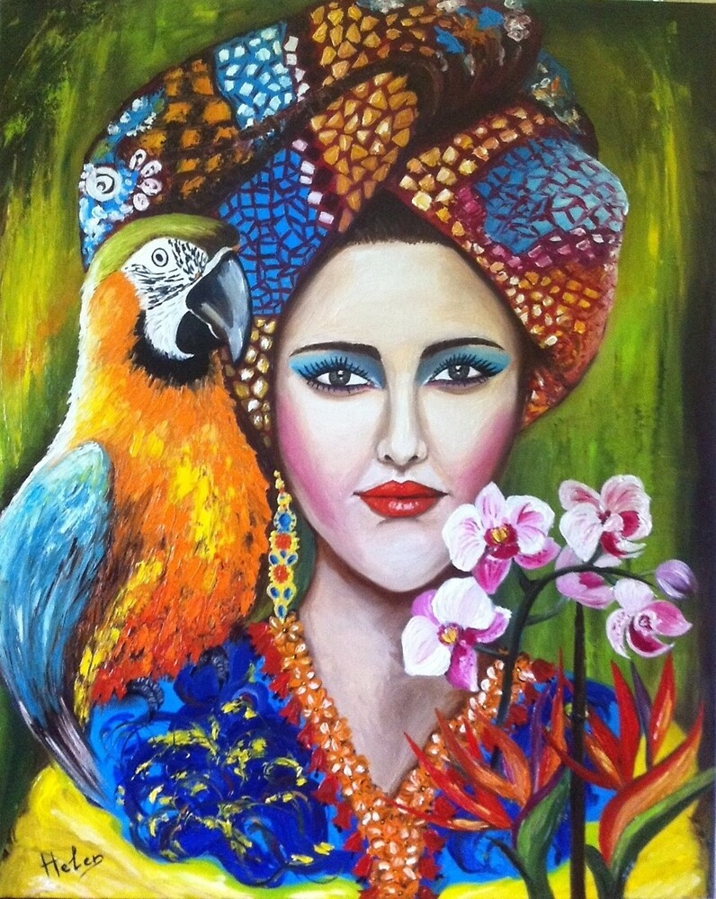 Tropical girl by Helen Bellart