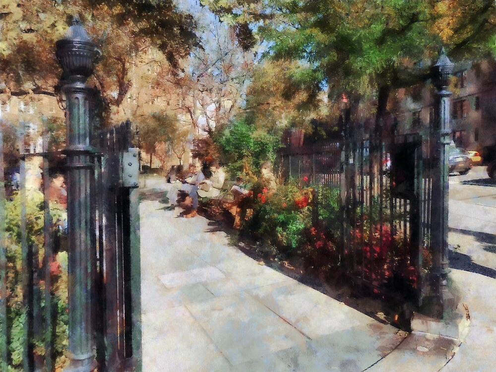 Abingdon Square Park Greenwich Village by Susan Savad