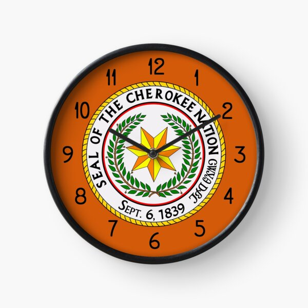 The Great Seal of the Cherokee Nation Clock