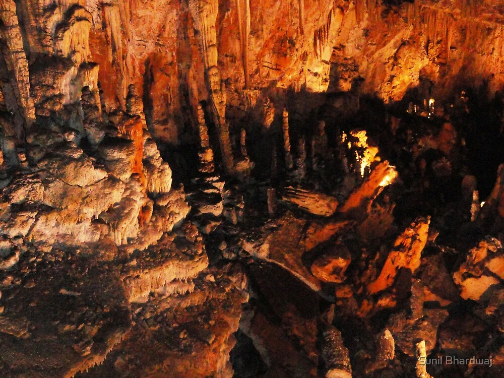 Stalactites and Stalagmites of caves in Italy by Sunil Bhardwaj