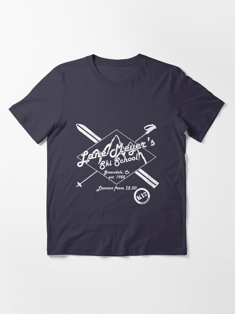 Alternate view of Lane Meyer Ski School Dark Essential T-Shirt