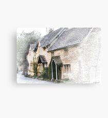 English Cottages - Gloucestershire Canvas Print