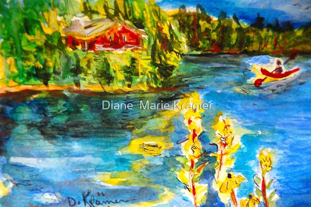 Paddling on Long Pond by Diane  Marie Kramer