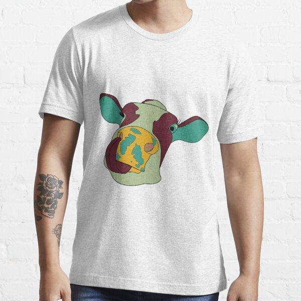 Kuh mit Zunge in der Nase Essential T-Shirt