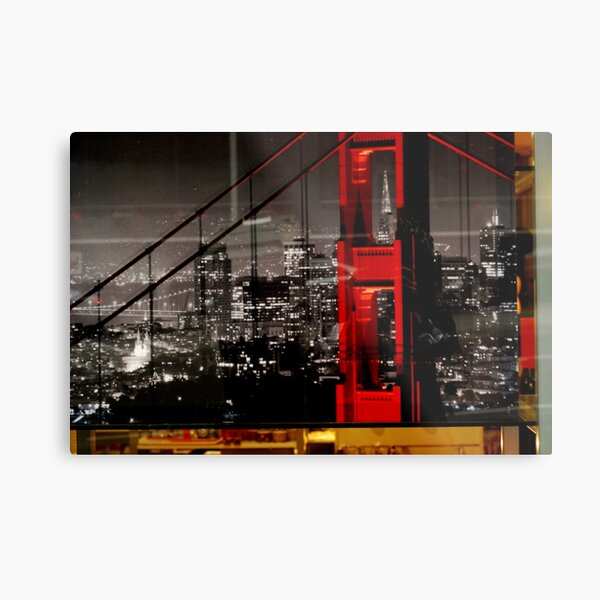for eon,   right city ,  hope the right bridge. Metal Print